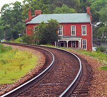 Jonesborough, Tennessee - Curved Train Tracks by Frank Romeo