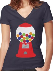 Gumball Women's Fitted V-Neck T-Shirt
