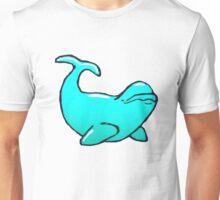 Blue Beluga Whale Unisex T-Shirt