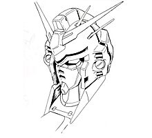 Gundam Mech Photographic Print