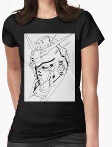 Gundam Mech Womens Fitted T-Shirt