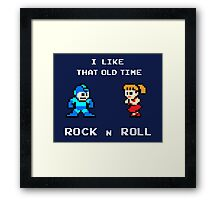 Old Time Rock and Roll - Megaman 8bit Classic Framed Print