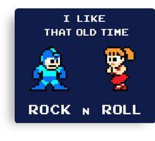 Old Time Rock and Roll - Megaman 8bit Classic Canvas Print
