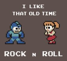 Old Time Rock and Roll - Megaman 8bit Classic One Piece - Short Sleeve