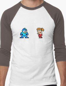 Old Time Rock and Roll - Megaman 8bit Classic Men's Baseball ¾ T-Shirt