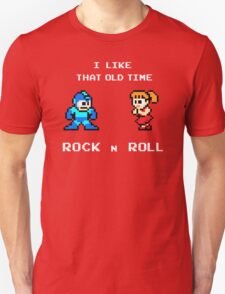 Old Time Rock and Roll - Megaman 8bit Classic T-Shirt