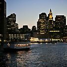 Ferry approaches the Boston Harbor at Long Wharf *featured by Jack McCabe