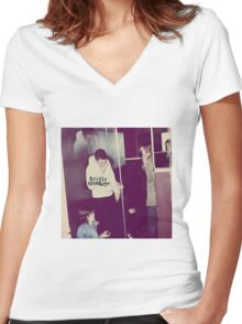 humbug  Women's Fitted V-Neck T-Shirt