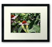 my heart is not haughty Framed Print