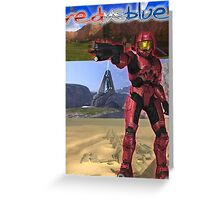 Red Vs Blue Sarge Greeting Card