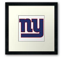 New York Giants Logo Framed Print