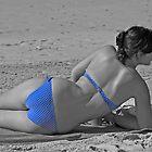 Itsy Bitsy Teenie Weenie Blue Polka Dot Bikini by awefaul
