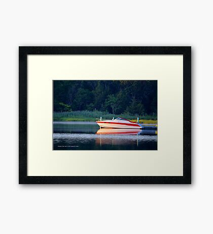 Motorboat | Flanders Bay, New York  Framed Print