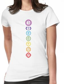 Chakras - The 7 Centers of Force Womens Fitted T-Shirt