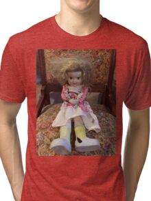 Porcelain Doll ~ Crazy Girl Tri-blend T-Shirt