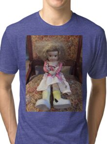Porcelain Doll ~ Crazy Girl Tri-blend T-Shirt