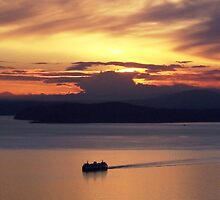 Sunset Cruise, Seattle, Washington by John Carpenter