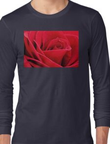 Red Rose Up Close Long Sleeve T-Shirt