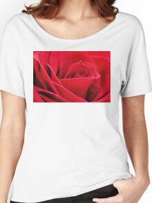 Red Rose Up Close Women's Relaxed Fit T-Shirt