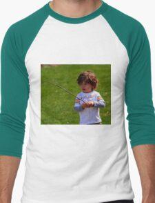 A CHILDS WORLD Men's Baseball ¾ T-Shirt