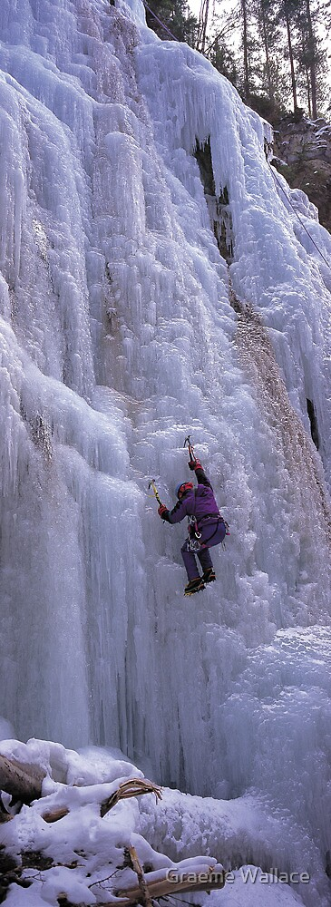 Maligne Fall Ice Climber by Graeme Wallace