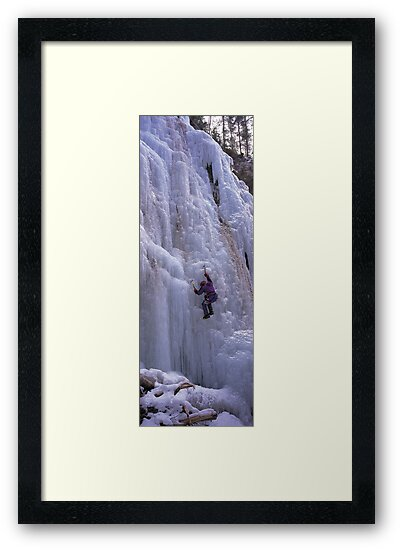 Maligne Fall Ice Climber by Graeme Wallace