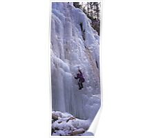 Maligne Fall Ice Climber Poster