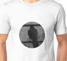 Raven On Fence Unisex T-Shirt