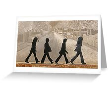 The Beatles ~ Abbey Road Greeting Card