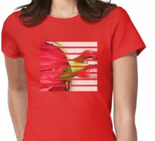 Red Lips, Red Rose Womens Fitted T-Shirt