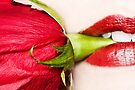 Red Lips, Red Rose by April Koehler