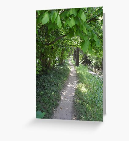 Footpath to the Bus Stop Greeting Card