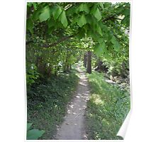 Footpath to the Bus Stop Poster