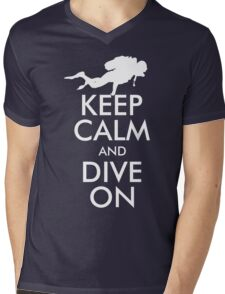 Keep Calm and Dive On Mens V-Neck T-Shirt