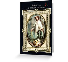 Vintage Holy Card depicting Grief Greeting Card
