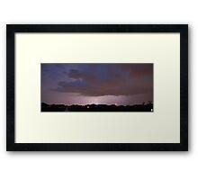 Lightening Strikes Framed Print