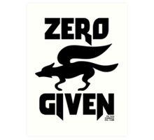 Zero (Star) Fox Given Art Print