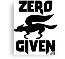 Zero (Star) Fox Given Canvas Print