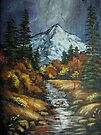 Mountain Stream on Slate by teresa731