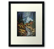 Mountain Stream on Slate Framed Print