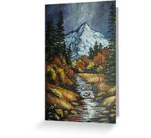 Mountain Stream on Slate Greeting Card