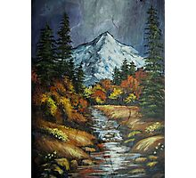 Mountain Stream on Slate Photographic Print