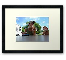 Experience wins.... Framed Print