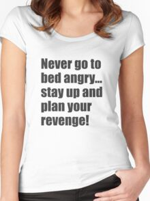 382 Plan Your Revenge Women's Fitted Scoop T-Shirt
