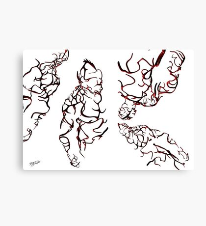 Muscle Demon 3D Wild Red Canvas Print