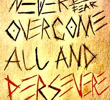 Never Lose, Never Fear overcome all and persevere by OasisGold