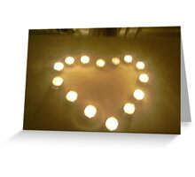 Love in candles Greeting Card