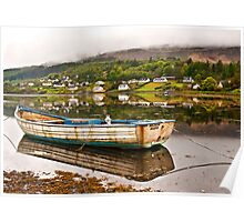 Fishing boat in Portree Poster
