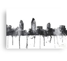 San Diego, California Skyline - B&W Canvas Print