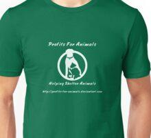 Profits For Animals - White Logo Unisex T-Shirt